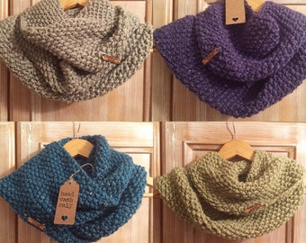 Hand Knitted Cowl in Luxury Alpaca