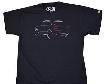 Audi Q3 Sketch Design T Shirt