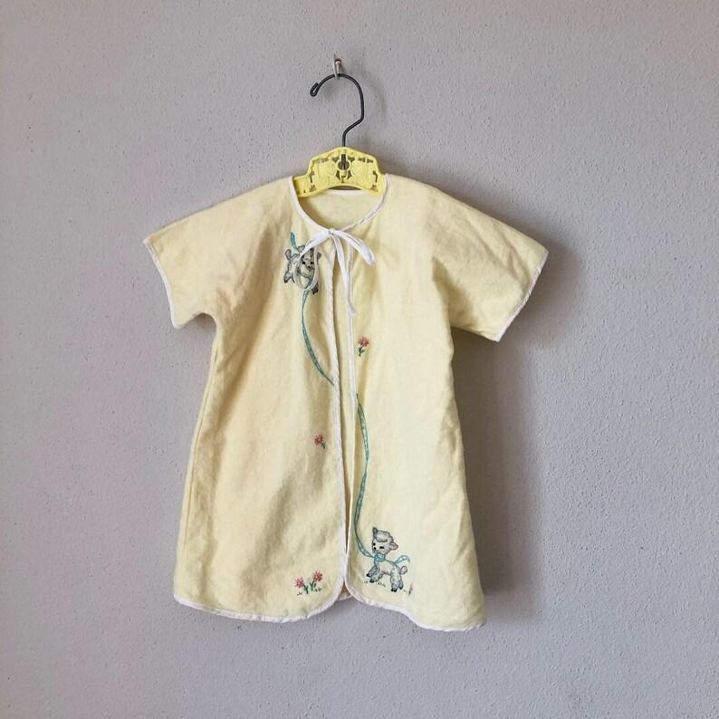 bcdc1b9efe8 Vintage 50s Baby Bed Jacket 1950s 1960s Super Soft Flannel Bed