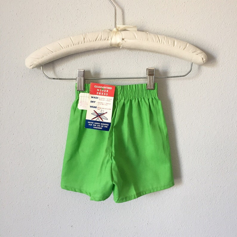 173cc3771c5 Vintage 1960s Shorts 60s 70s Unisex Baby Boy Girl Lime Green
