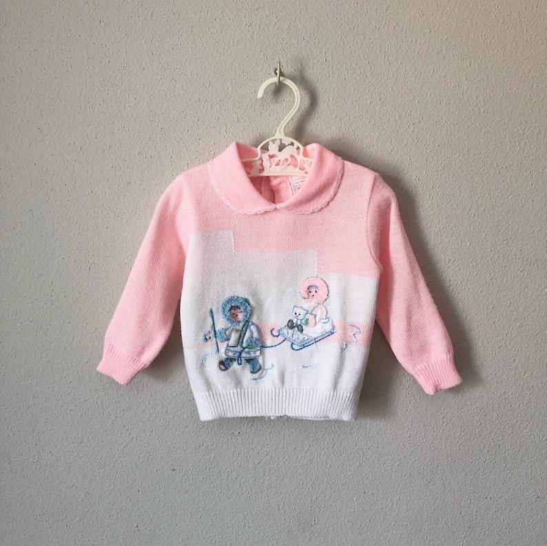 d1fe3fda0f1 Vintage Infant Sweater   70s 80s Novelty Fuzzy Kitsch Winter