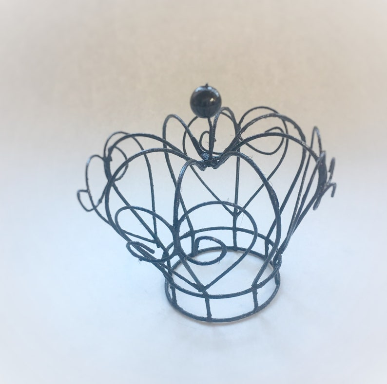 Gothic Crown Wire Crown Crown Cosplay Crown Renaissance Costume Small Crown Witch Crown Evil Queen Crown Black Crown