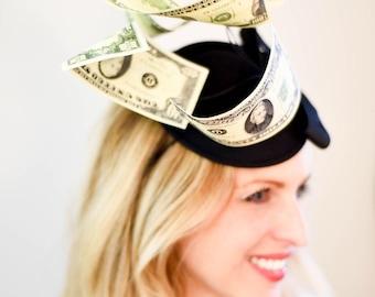 Fascinator, Kentucky Derby Hat, Preakness, Belmont Stakes, Breeder's Cup, Steeplechase, Black Hat, Luncheon Hat, Derby Hat, Style F-45