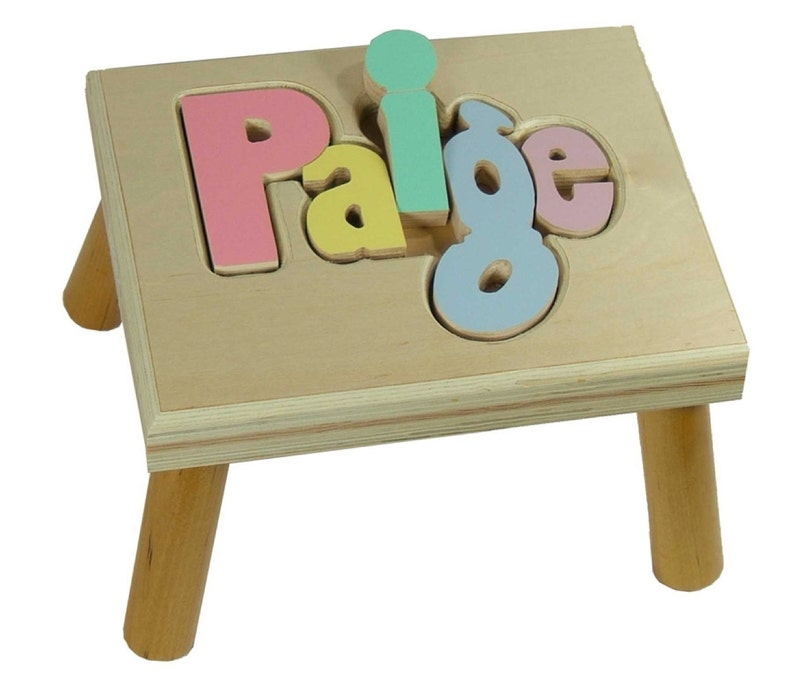Custom Colors Puzzle Step Stool image 0