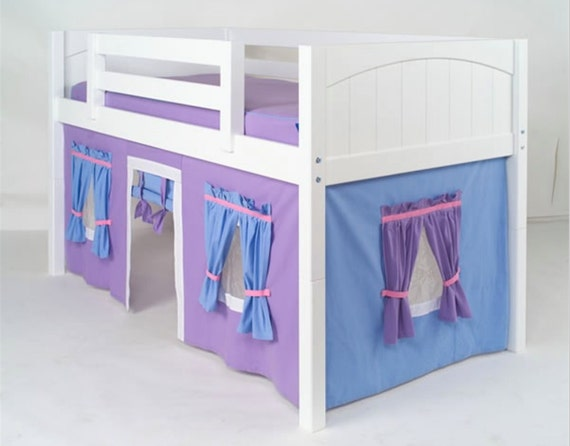 Low Loft Bunk Bed Curtain Free Shipping Etsy