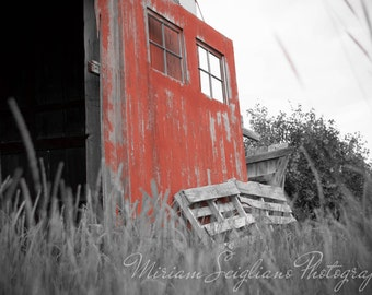 Red Barn Photography, Country photography, Farm photograph, Black and white photography, rustic photo, Rustic Wall Art, farmhouse decor