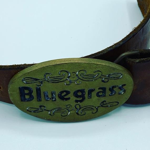Vintage Men/'s Belt Buckle Bluegrass Solid Brass 1980 Baron Buckles