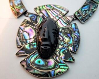 Abalone Onyx Necklace