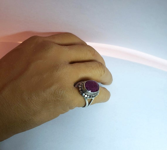 Silver Ruby Ring - image 2