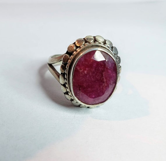 Silver Ruby Ring - image 1