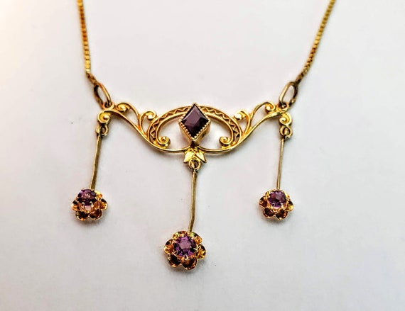 Art Nouveau Gold Necklace