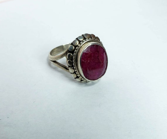 Silver Ruby Ring - image 4