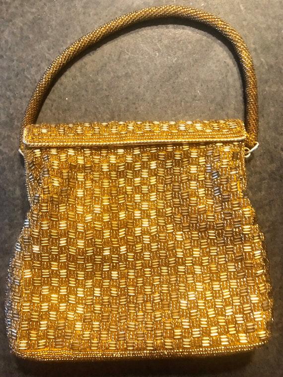 1960's Beaded Gold Evening Bag