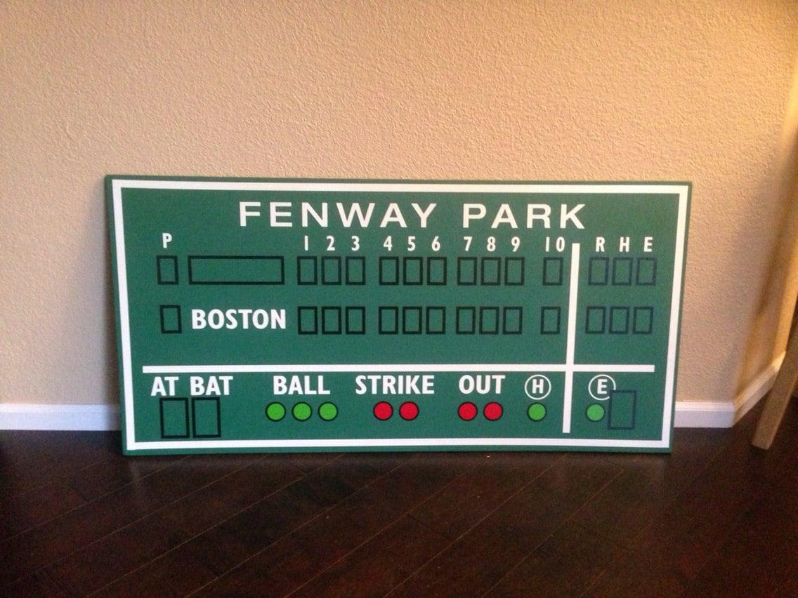 Marcador de béisbol de Boston decoración Fenway Park