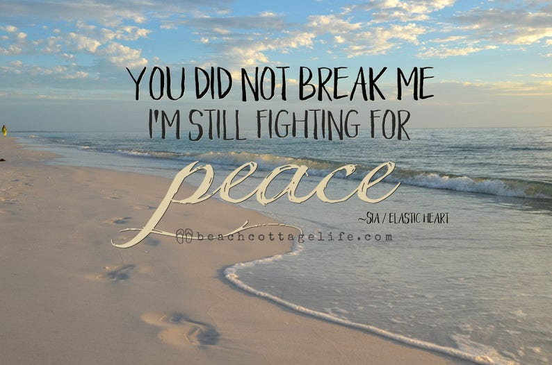 You Did Not Break Me / I'm Still Fighting for PEACE Word image 0