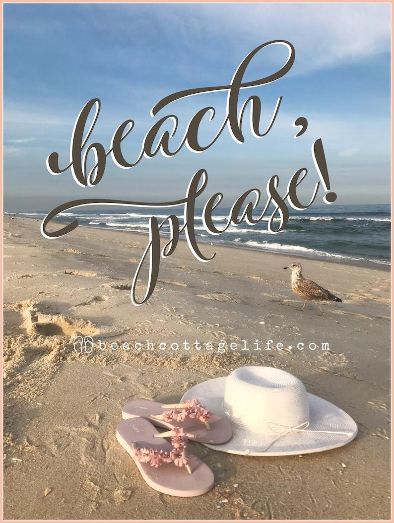 Flip FLIP FLOPS Sunhat Seagull / Canvas Print BEACH please image 0
