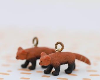 Red Panda Spirit Animal Earrings