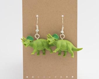Triceratops Spirit Animal Earrings