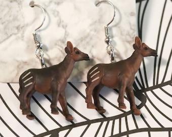 Okapi Spirit Animal Earrings