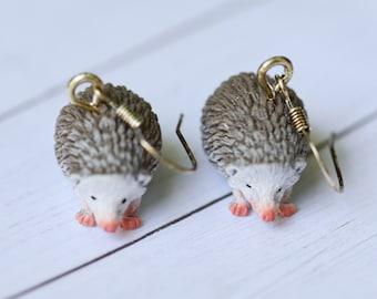 Hedgehog Spirit Animal Earrings