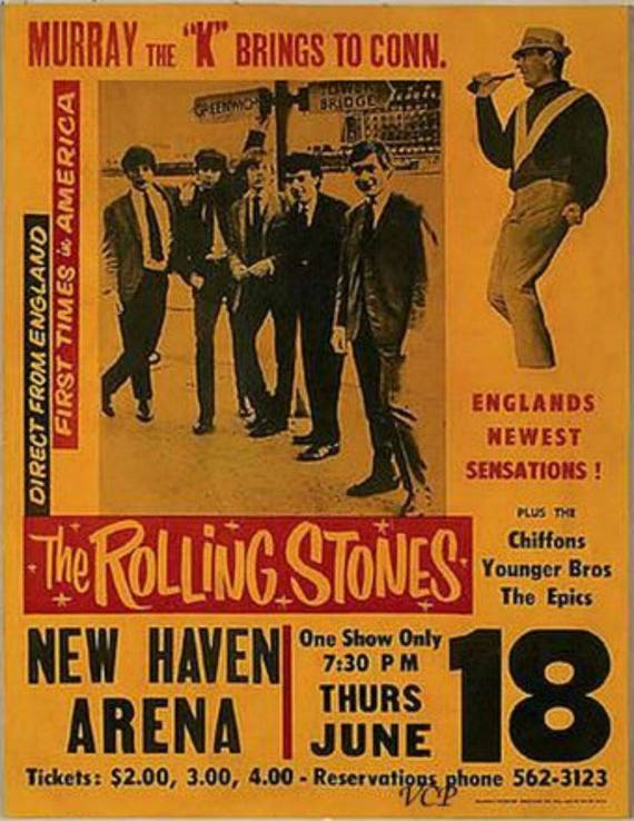 Classic Rolling Stones Vintage Concert Poster Print Etsy