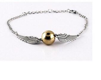 Harry Potter Golden Snitch Bracelet Hogwarts Handmade Jewelry