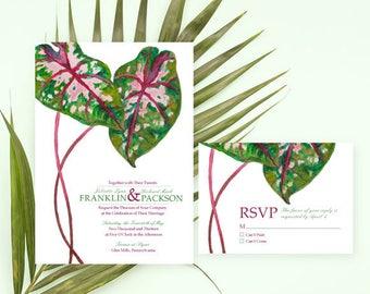 Horticulture Wedding Invitation, Watercolor Wedding Invitation, Watercolor Invitation, Garden wedding invitation, Botanical wedding invite