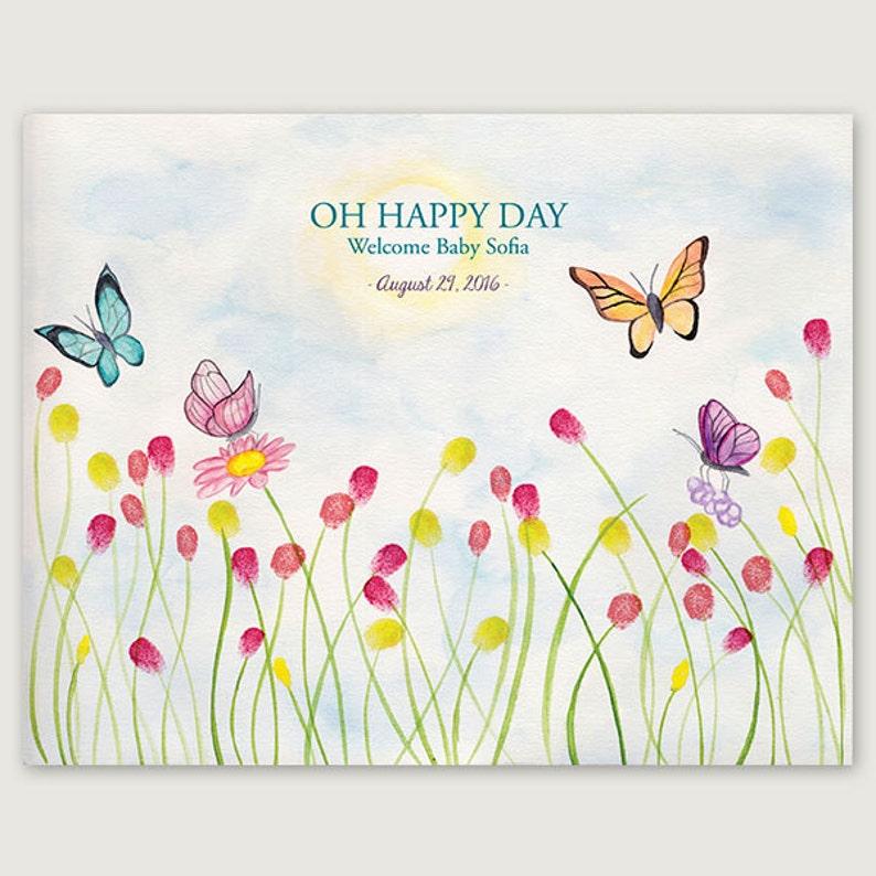 Schmetterling Fingerabdruck Gästebuch Etsy