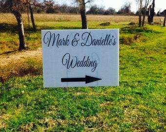 25 off wedding yard sign wedding directional sign corrugated plastic yard signs yard signs personalized yard signs wedding signs 18x2