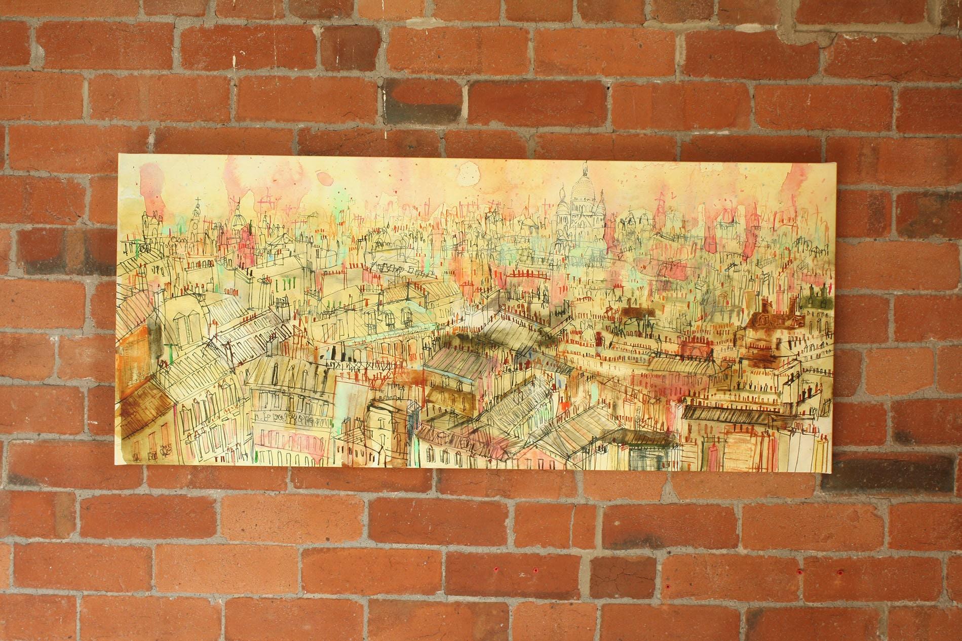 PARIS ART CANVAS Paris Rooftop View Large Wall Art Paris | Etsy