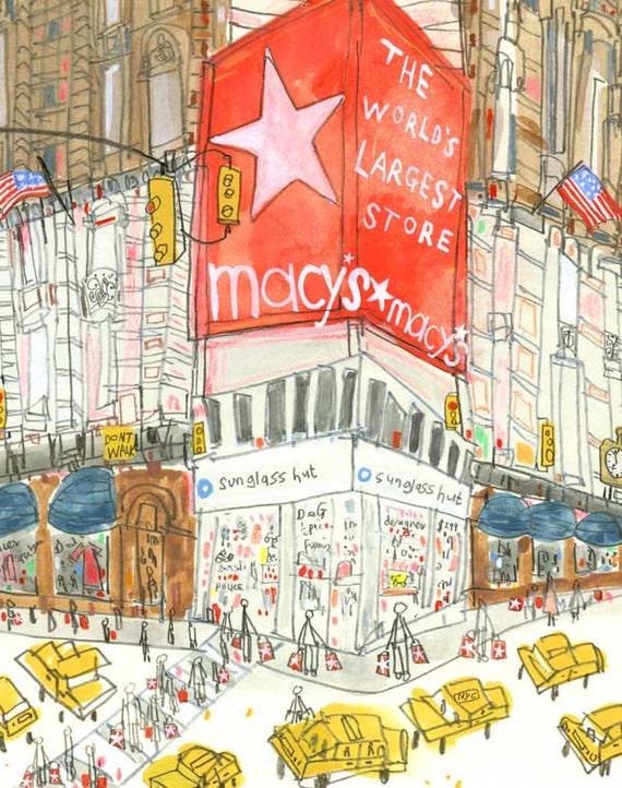 MACYS PRINT New York Illustration NYC Wall Art 8 x 10 Print