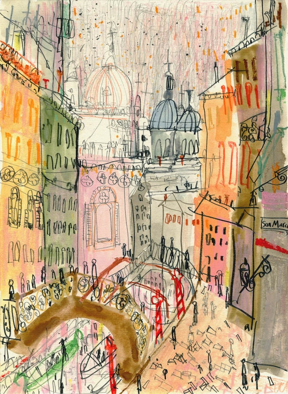 Foto Di Canal Venezia Firmato Stampa Darte Pittura Ad Etsy