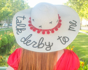 The ORIGINAL Kentucky Derby Talk Derby to Me Honeymoon Hat™ EXPRESS SHIPPING available