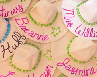 CUSTOM BULK HATS for Bachelorette Party, Events- Set of 3