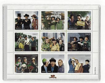Three Stooges Limited Edition Postage Stamps, Vintage