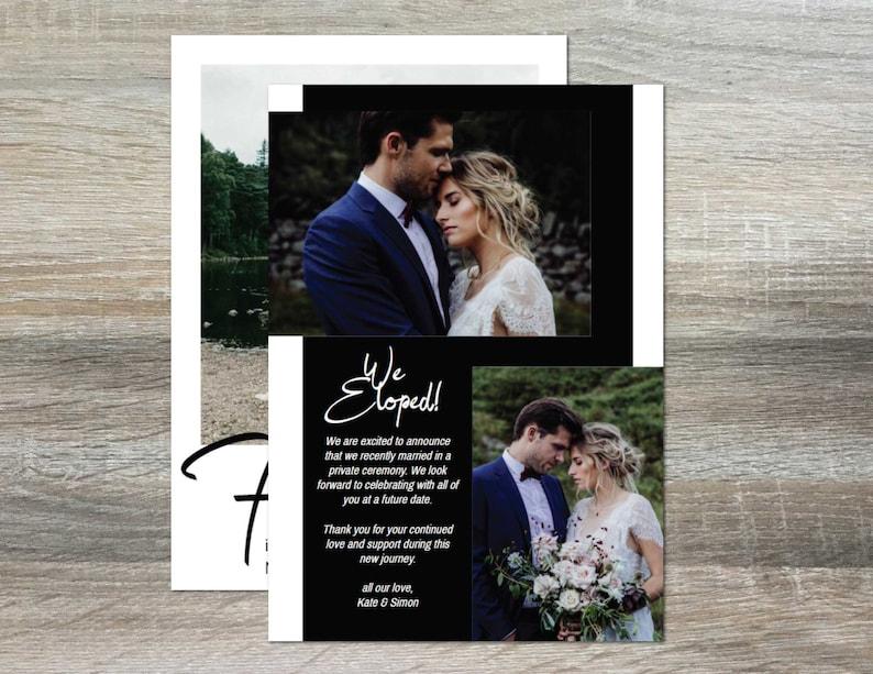 Print Yourself For Keeps ElopementWedding Announcement Template; 5x7 Digital Download; Edit