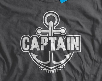 Anchor T-Shirt Nautical T-shirt Captain T-Shirt Boat captain Yacht Pontoon Fishing Boat Funny T-Shirt Gifts For Dad Mens Ladies Womens