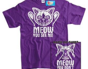 I Love Pussy Cat Picture Joke Kitten Women Go Down Get Laid Eat Juniors T-Shirt