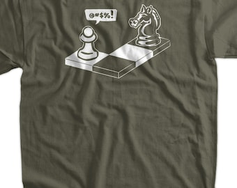 ace6f544df Funny Chess Geek Nerd T-Shirt - Capture The Pawn Geek Nerd Chess Club  School Kids Mens Ladies Womens Youth