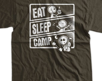 Icecreamtees family friendly screen printed tees por icecreamtees camp hiking tent camping t shirt eat sleep camp t shirt gifts for dad screen printed t shirt tee shirt t shirt mens ladies womens youth kid fandeluxe Images