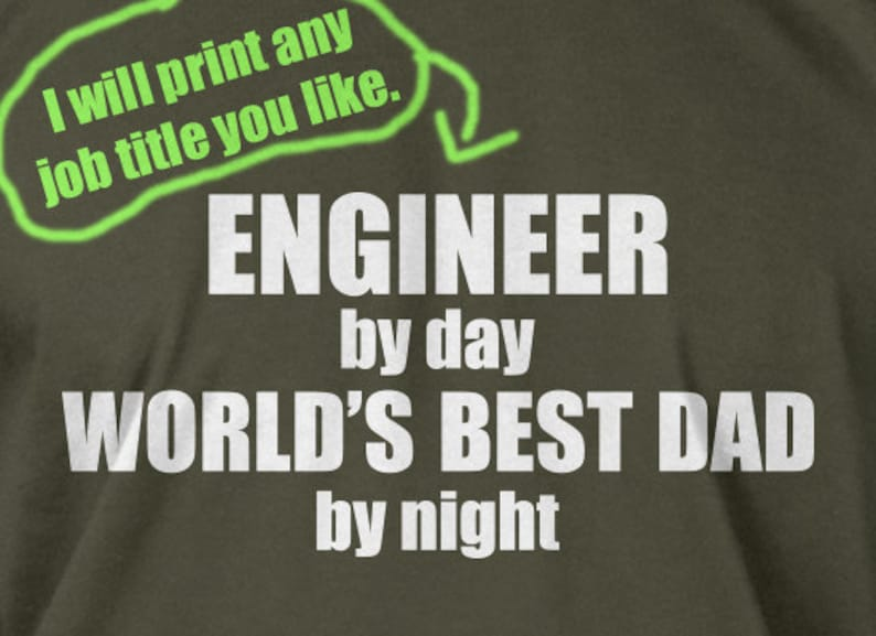 c5f456c2c Engineer By Day World's Best Dad T-Shirt Mens Engineering | Etsy