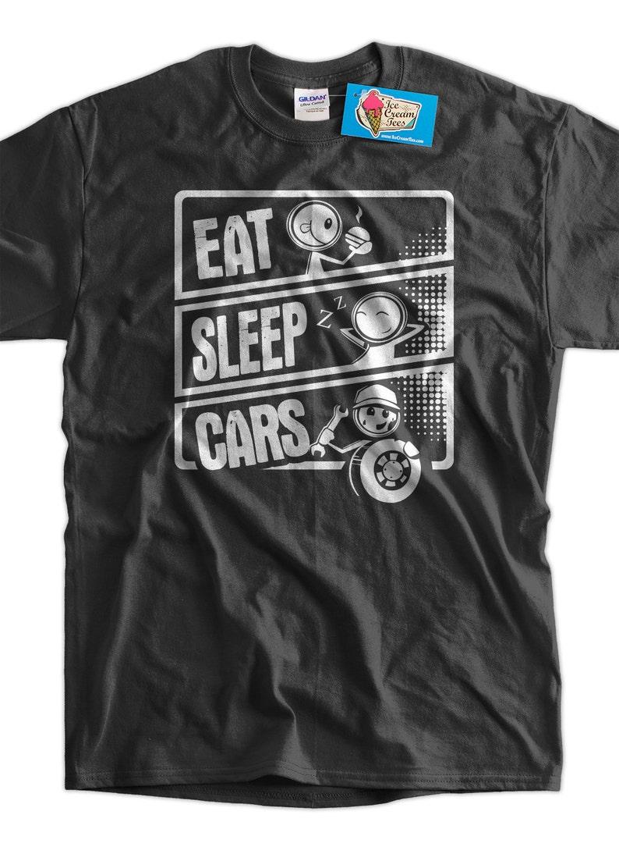 Eat Sleep Cars T-Shirt Mechanic Car Buff Gifts for Guys Gifts image 0