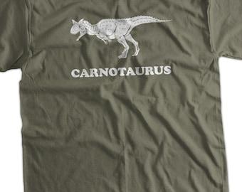 Carnotaurus Dinosaur Dino Geek Nerd Science School Christmas Gift Printed T-Shirt Mens Ladies Womens Youth Kids Funny Geek