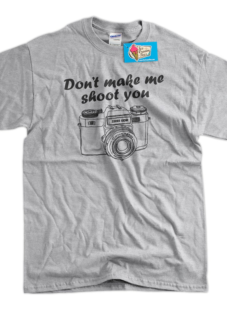 09c751dd22 Funny Gifts for Photographers Camera Photography T-Shirt | Etsy