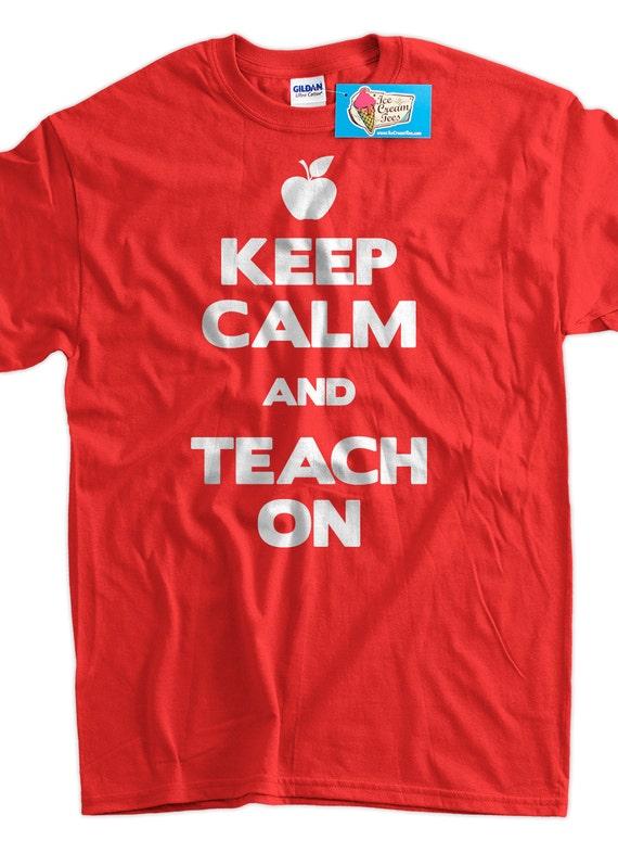 funny teacher t shirt gifts for teachers teaching t shirt keep etsy. Black Bedroom Furniture Sets. Home Design Ideas