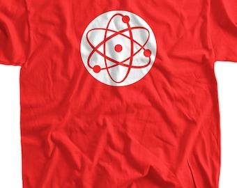 Cool Geek T-Shirt Atom T-Shirt Science T-Shirt Gifts for Dad Screen Printed T-Shirt Tee Shirt Mens Ladies Womens Youth Kids