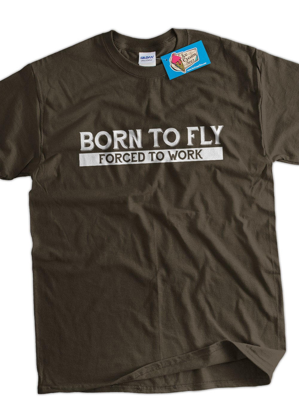 Funny Pilot T Shirt Born To Fly Forced To Work T Shirt Gifts Etsy