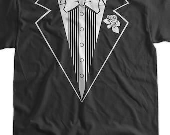 Tuxedo Wedding Marriage Screen Printed T-Shirt Tee Shirt T Shirt Mens Ladies Womens Funny