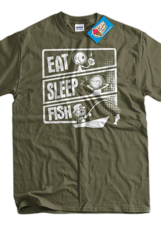 ca877d1e Fishing T-Shirt Fish T-Shirt Eat Sleep Fish T-Shirt V3 Gifts | Etsy