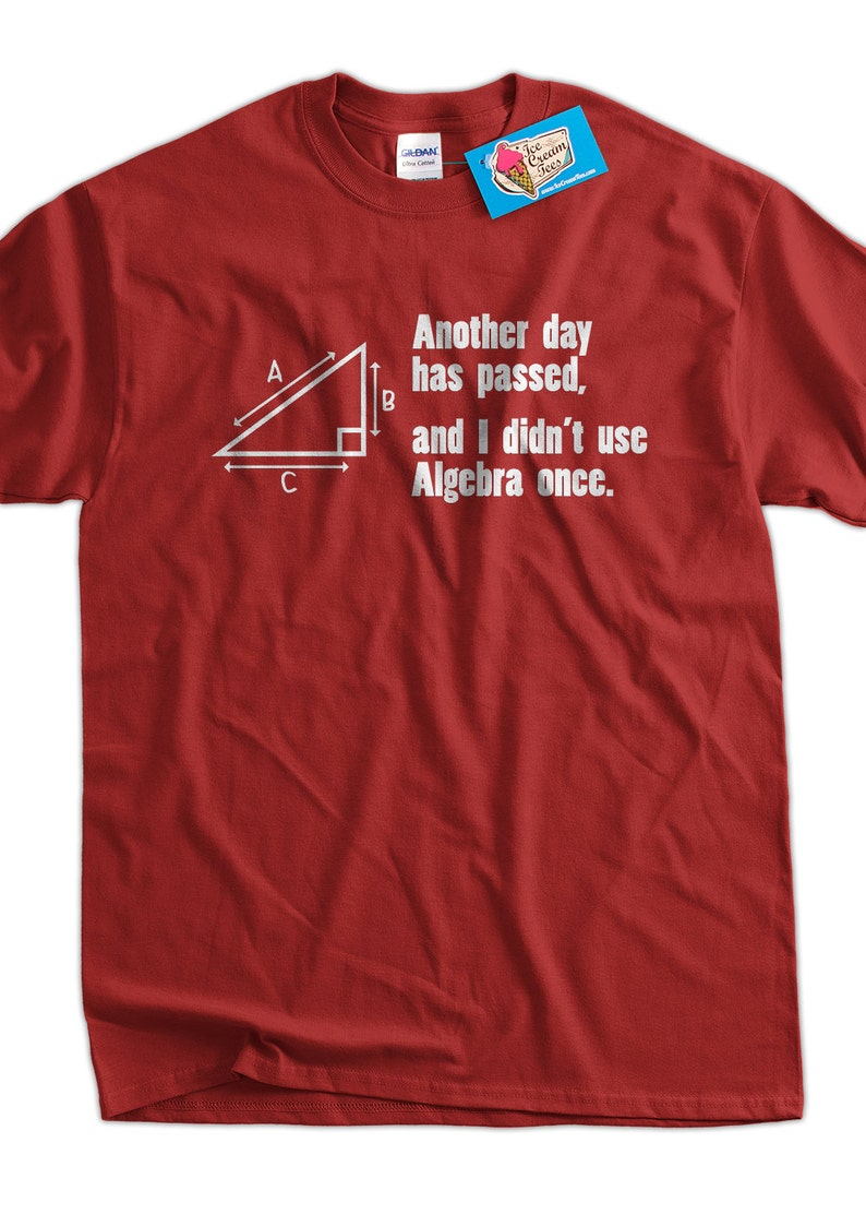 aaf02470 Funny Math T-Shirt Another Day Passed and I Didn't Use | Etsy